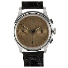 J.E. Caldwell Copper Dial Chronograph Wrist Watch