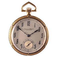 International Watch Co. Open Face Pocket Watch