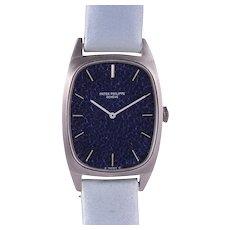 Rare Patek Philippe 18 Karat White Gold Ladies Wrist Watch