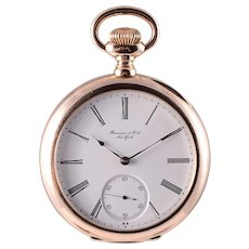 Vacheron Constantin 18 Karat Rose Gold Pocket Watch