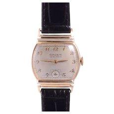 Gruen 14KY Gold Filled Wrist Watch