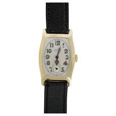 Rare Green Gold Mens Gruen Wrist Watch