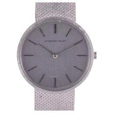 Audemars Piguet 18 Karat White Gold Mens Wrist Watch