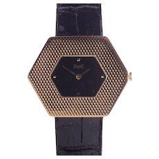 Piaget 18 Karat Gold Hexagonal Wrist Watch