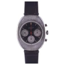 Waltham Brushed Steel Chronograph Wrist Watch