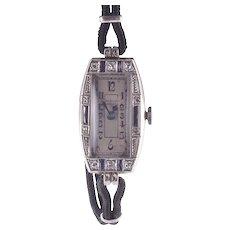 Rolex Bucherer White Gold Ladies Wrist Watch