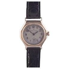 Rolex Oyster Model 9K Gold Octagonal Case Wrist Watch