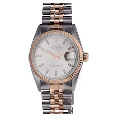 Rolex Rose Gold & Steel Auto Datejust Wrist Watch