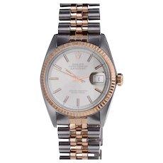 Rolex Rose Gold & Steel Auto Datejust Wrist Watch
