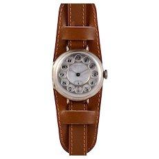 Juvenia Rare WWI Campaign Style Wrist Watch