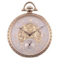 Rare Limited Edition Lord Elgin 14K Gold Pocket Watch