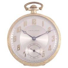 Hamilton Two Tone Pocket Watch