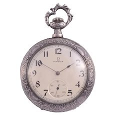 Omega Rare First Edition Silver Pocket Watch