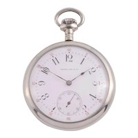 Agassiz for Wright Kay Nickel Silver Pocket Watch