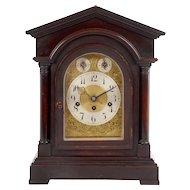 Junghans German Mahogany Mantel Clock
