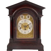 Junghans German Mahogany Mantel Clock