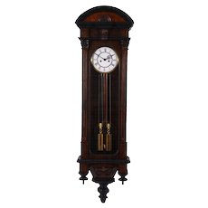 Austrian Two Weight Vienna Regulator Wall Clock