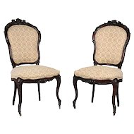Pair of Rosewood Parlor Chairs