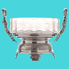 Rogers Etched Glass Compote