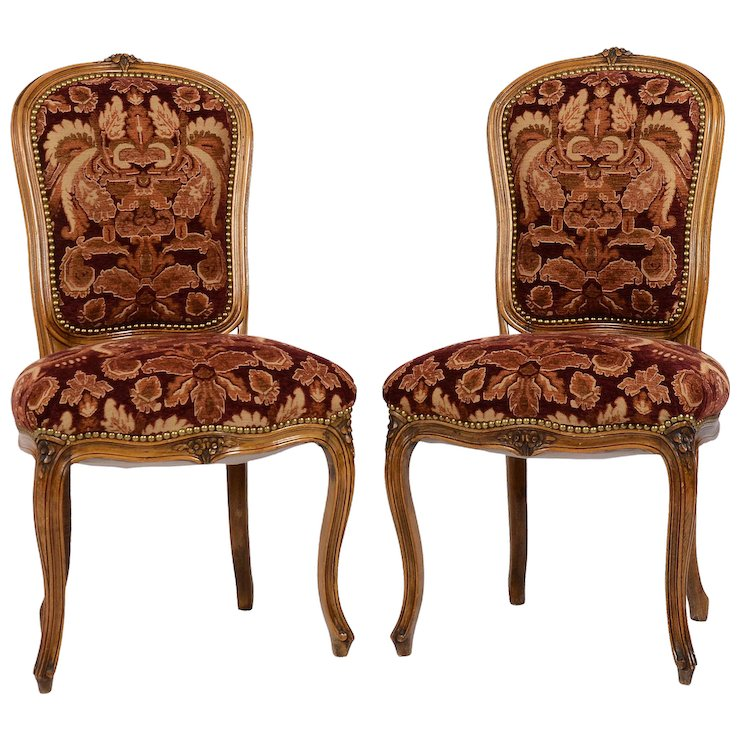 Pair of Provincial Parlor Chairs - Pair Of Provincial Parlor Chairs : Solvang Antiques Ruby Lane