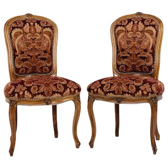 Pair of Provincial Parlor Chairs