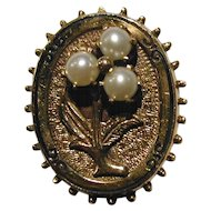 Antique Victorian 14K Gold Pearl Earrings Circa 1900