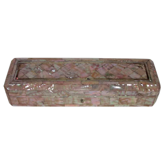 Antique Victorian Mother of Pearl Box Circa 1900