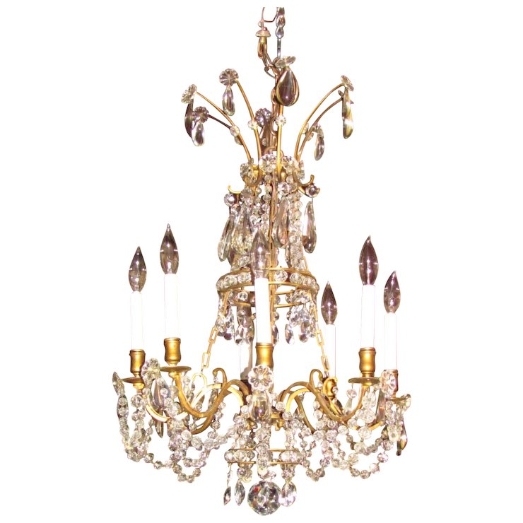 Antique victorian 8 light crystal chandelier circa 1880 flanagan antique victorian 8 light crystal chandelier circa 1880 aloadofball Images