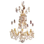 Antique Victorian 8 Light Crystal Chandelier Circa 1880
