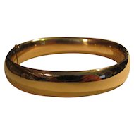 Antique Edwardian 14K Bangle Bracelet Circa 1910