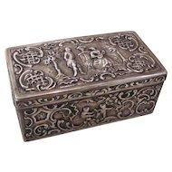 Antique Hanau Silver Table Box Circa 1890-1900
