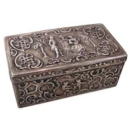 Antique Hanau Silver Table Box Circa 1890-1900