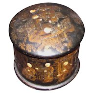 Antique Chinese Paper Mache Lacquered Box Circa 1840