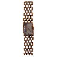 Vintage 1940's Retro Modern Jules Jurgensen 14K Wristwatch