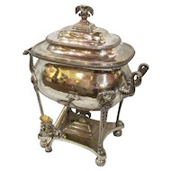 Antique English Sheffield Plate Hot Water Urn Circa 1815