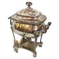 Antique English Sheffield Plate Hot Water Urn Circa 1815