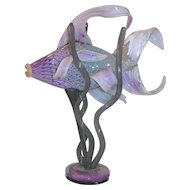 Fantastic Vintage Murano Glass Sculpture of a Fish