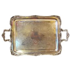 Antique American Silverplate Serving Tray Ornate Design Circa 1900 - Red Tag Sale Item
