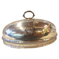 Antique Georgian Sheffield Plate Meat Dome Circa 1790