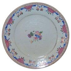 Antique Chinese Export Ceramic Plate 18th Century