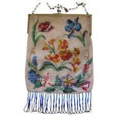 Antique German Micro Beaded Bag Circa 1900
