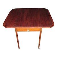 Antique American Federal Mahogany Pembroke Table Circa 1810