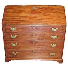 Antique American Mahogany Slant Front Desk Circa 1780