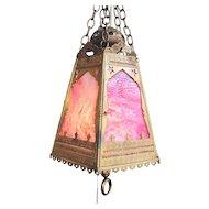 Antique Moorish Style Light Fixture Circa 1900