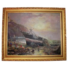 Antique American Oil on Canvas Painting Circa 1900