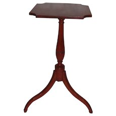 Antique American Federal Cherry Candle Stand Circa 1800