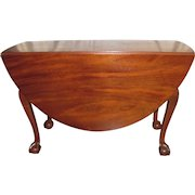 Antique American Mahogany Chippendale Drop Leaf Dining Table Circa 1770