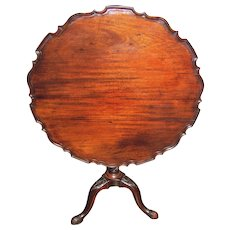 Antique English Georgian Mahogany Tilt Top Tea Table Circa 1780