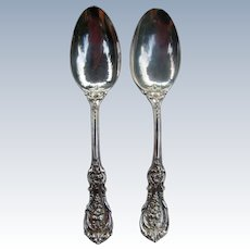 2 Reed & Barton Sterling Silver Serving Spoons Francis I  8 3/8""