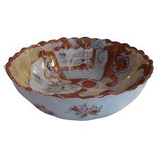 Antique Japanese Meiji Kutani Fruit Bowl 19th Century